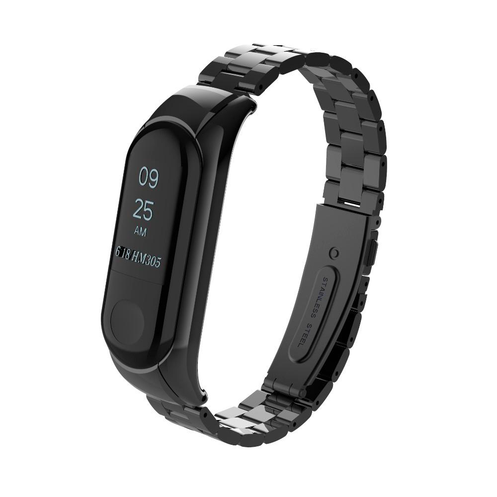 Купить Металлический ремешок для фитнес-браслета oneLounge Xiaomi Mi Band 3 | 4 Black