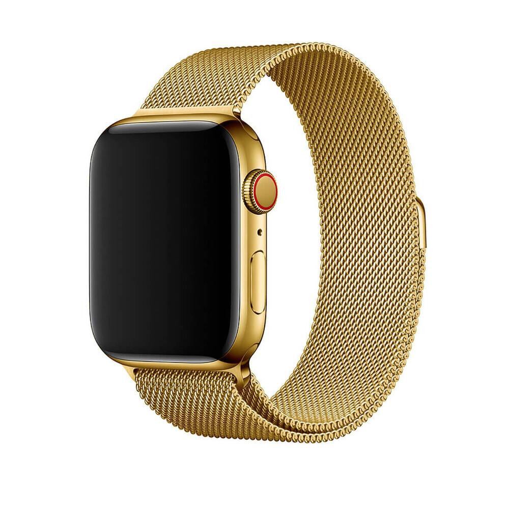 Купить Ремешок oneLounge Milanese Loop Gold для Apple Watch 42mm | 44mm SE | 6 | 5 | 4 | 3 | 2 | 1