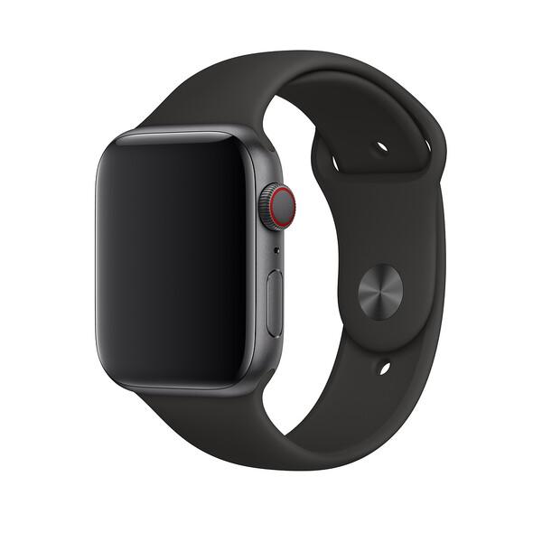 Ремешок iLoungeMax Sport Band 42mm   44mm Black для Apple Watch SE   6   5   4   3   2   1 OEM