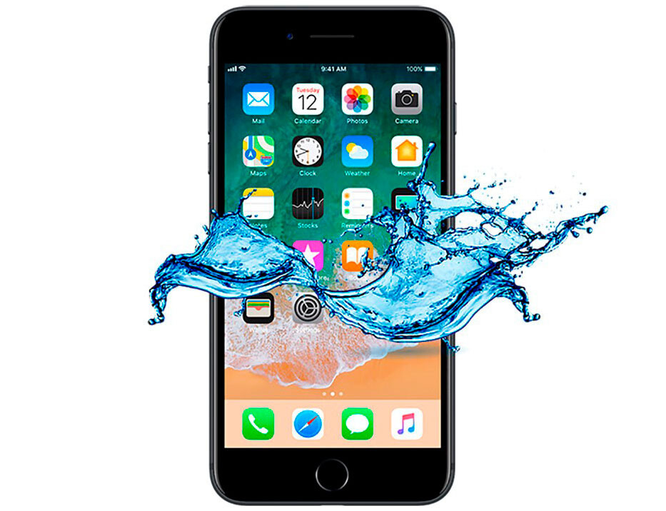 Ремонт после попадания влаги iPhone 8 Plus