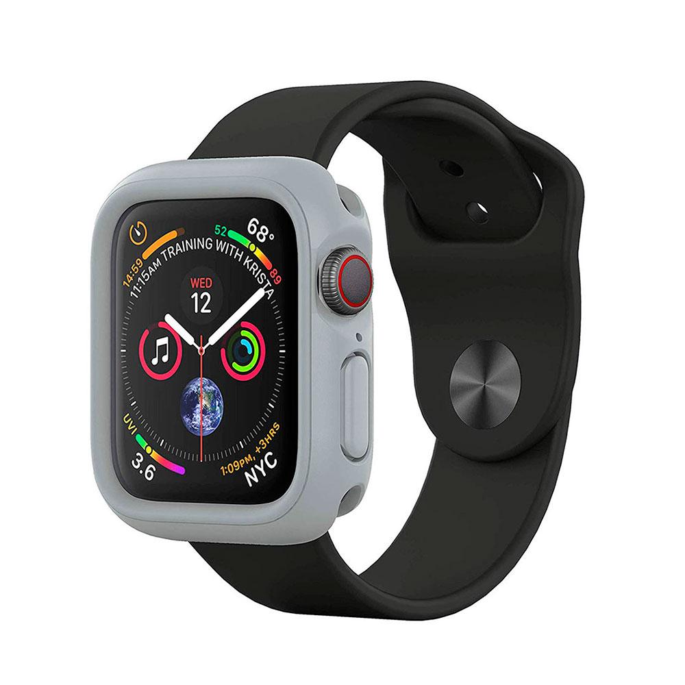 Купить Противоударный чехол RhinoShield CrashGuard NX Gray для Apple Watch 40mm SE | 6 | 5 | 4