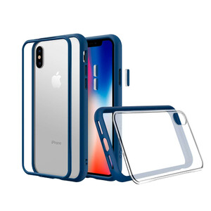 Купить Противоударный чехол-бампер RhinoShield Mod NX Royal Blue для iPhone XS Max