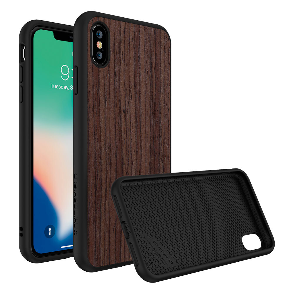 Противоударный чехол RhinoShield SolidSuit Dark Walnut для iPhone XS Max