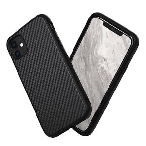 Купить Противоударный чехол RhinoShield SolidSuit Carbon Fiber Black для iPhone 11
