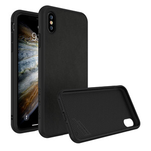 Купить Противоударный чехол RhinoShield SolidSuit Leather Black для iPhone XS Max