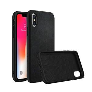 Купить Противоударный чехол RhinoShield SolidSuit Leather Black для iPhone X/XS