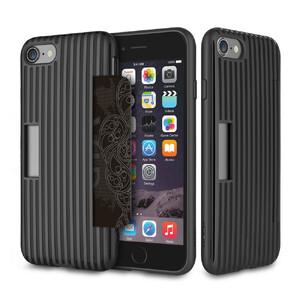 Купить Чехол с отделением для карт ROCK Cana Black для iPhone 7