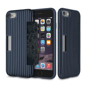 Купить Чехол с отделением для карт ROCK Cana Blue для iPhone 7