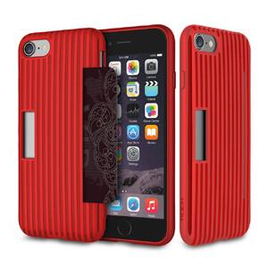 Купить Чехол с отделением для карт ROCK Cana Red для iPhone 7