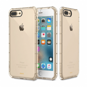 Купить Защитный чехол ROCK Fence Series Transparent Gold для iPhone 7 Plus/8 Plus