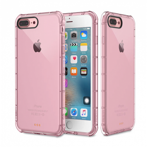 Купить Защитный чехол ROCK Fence Series Transparent Pink для iPhone 7 Plus/8 Plus