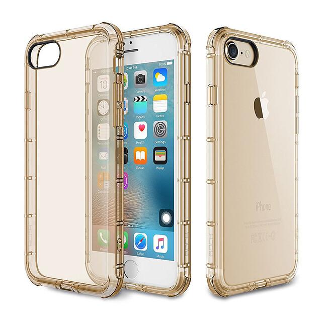 Чехол Rock Fence Series Transparent/Gold для iPhone 7