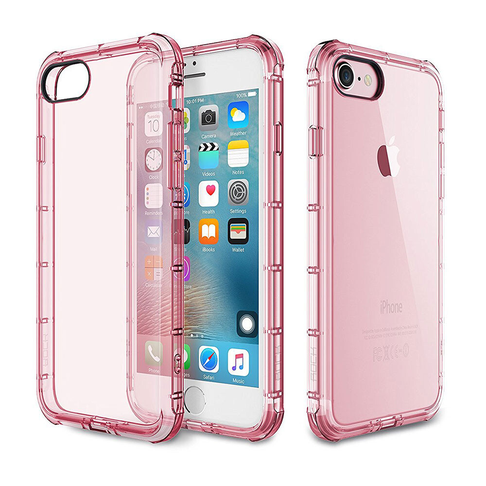 Чехол Rock Fence Series Transparent/Rose для iPhone 7