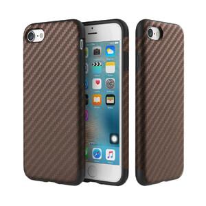 Купить Карбоновый чехол ROCK Origin Series (Textured) Brown для iPhone 7/8