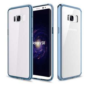 Купить Пластиковый чехол ROCK Pure Series Transparent Blue для Samsung Galaxy S8 Plus