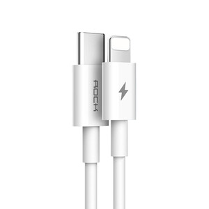 Купить Кабель ROCK Round Cable PD USB Type-C to Lightning 1m