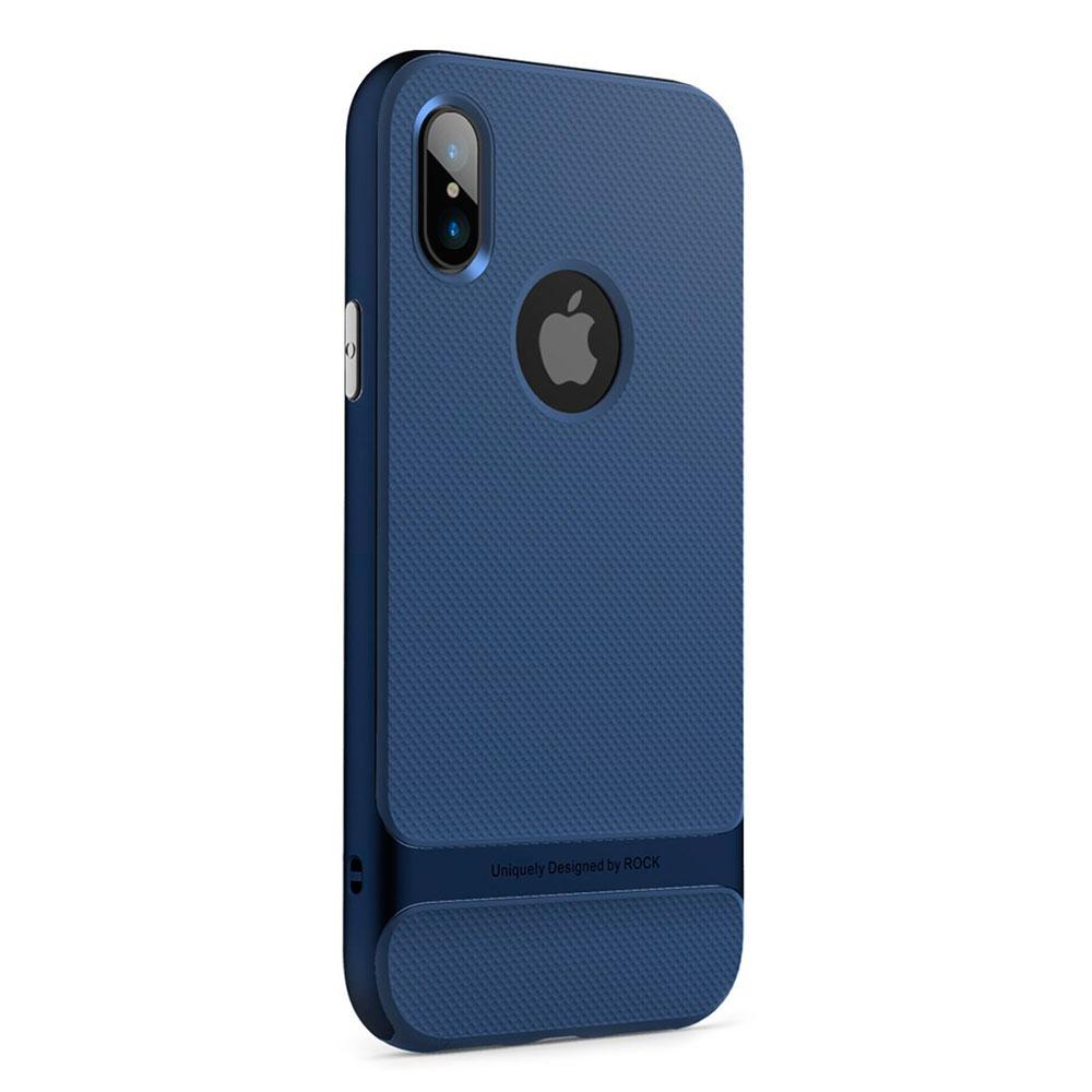 Купить Чехол-накладка ROCK Royce Series Blue для iPhone X   XS