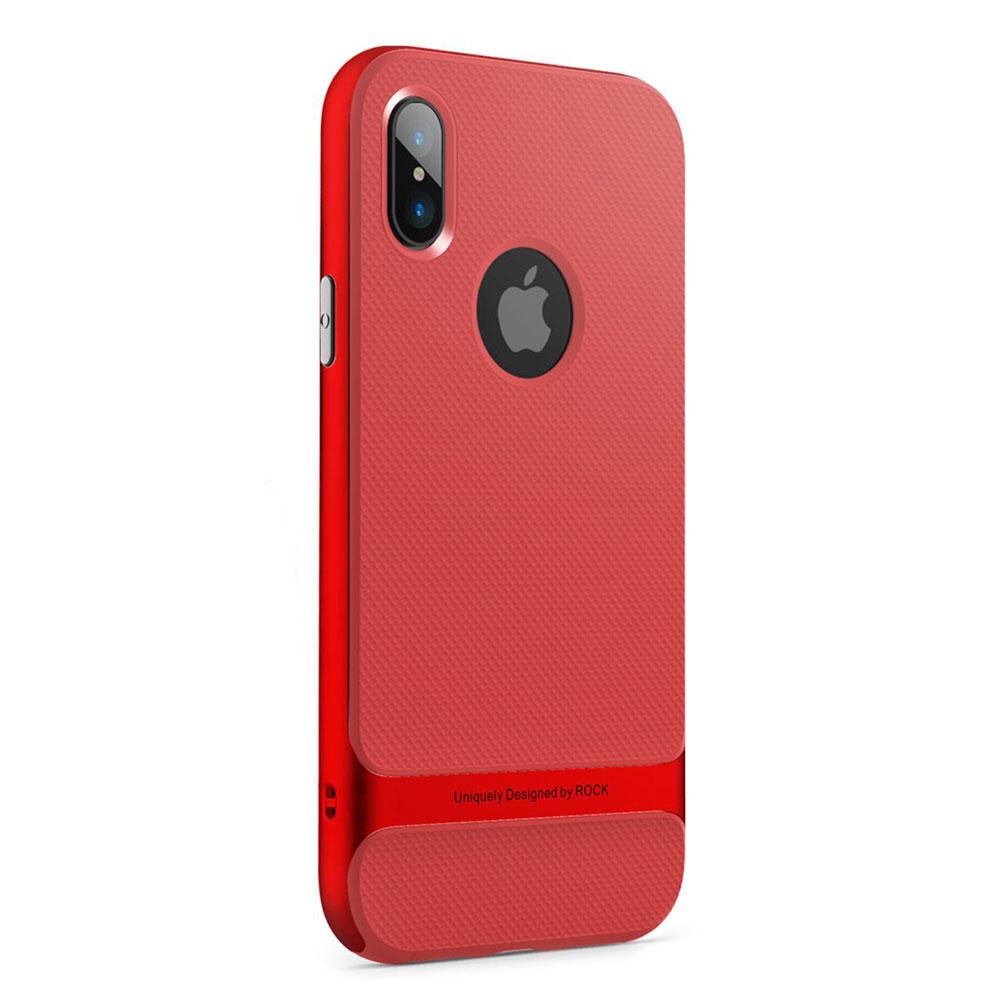 Купить Чехол-накладка ROCK Royce Series Red для iPhone X   XS