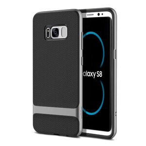Купить Чехол-накладка ROCK Royce Series Iron Grey | Black для Samsung Galaxy S8