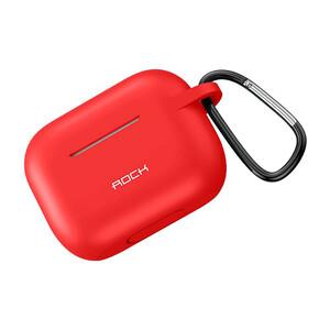 Купить Силиконовый чехол с карабином для Apple AirPods Pro ROCK Silicone Case Red