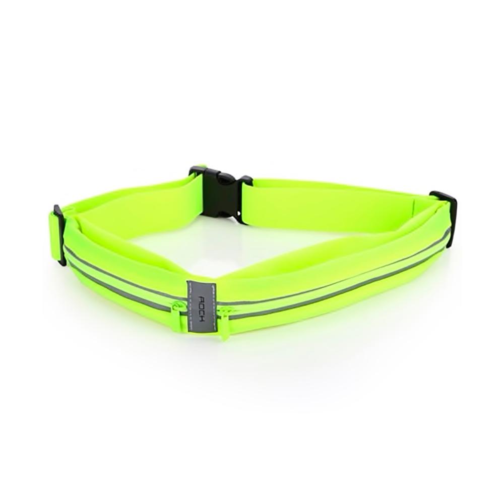 Купить Спортивная водонепроницаемая сумка на пояс для телефона ROCK Sports Waist Bag Green