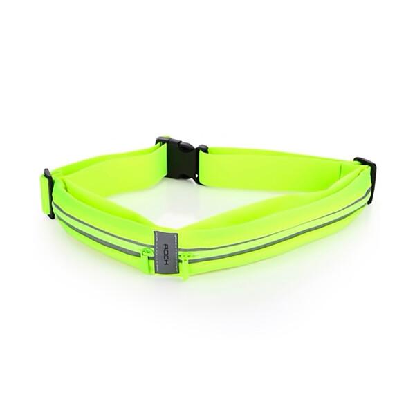Спортивная водонепроницаемая сумка на пояс для телефона ROCK Sports Waist Bag Green