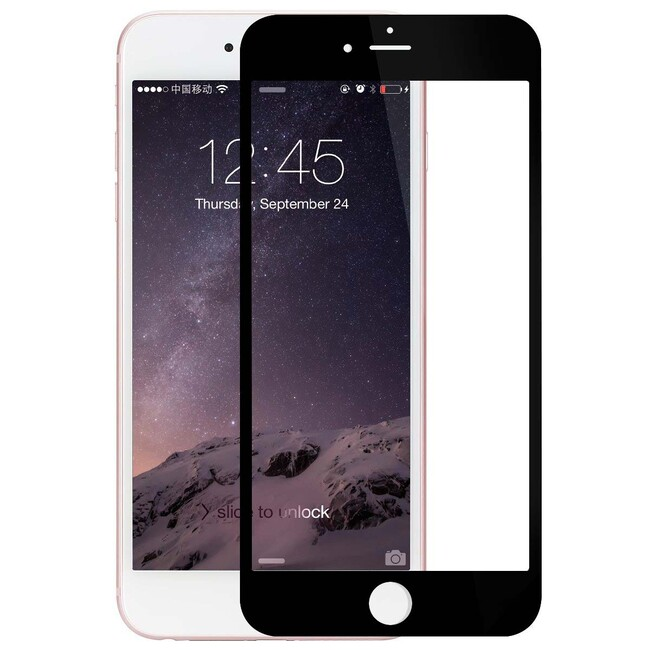 Защитное стекло ROCK Tempered Full Glass Black для iPhone 6/6s Plus