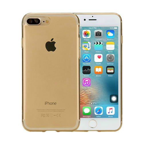 Чехол ROCK Ultrathin TPU Slim Jacket Transparent Gold для iPhone 7 Plus