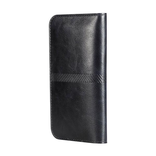 Чехол ROCK Universal Wallet Case Black для iPhone 6 Plus/6s Plus/7 Plus/8 Plus/X & Samsung Galaxy S7 Edge/S6 Edge/S8 Plus/S9 Plus