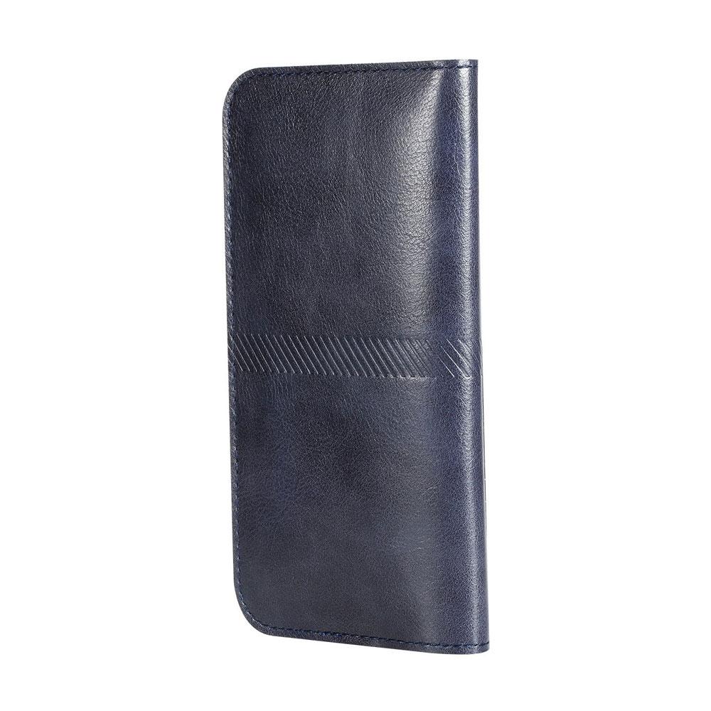 Купить Чехол ROCK Universal Wallet Case Dark Blue для iPhone 6 Plus/6s Plus/7 Plus/8 Plus/X & Samsung Galaxy S7 Edge/S6 Edge/S8 Plus/S9 Plus