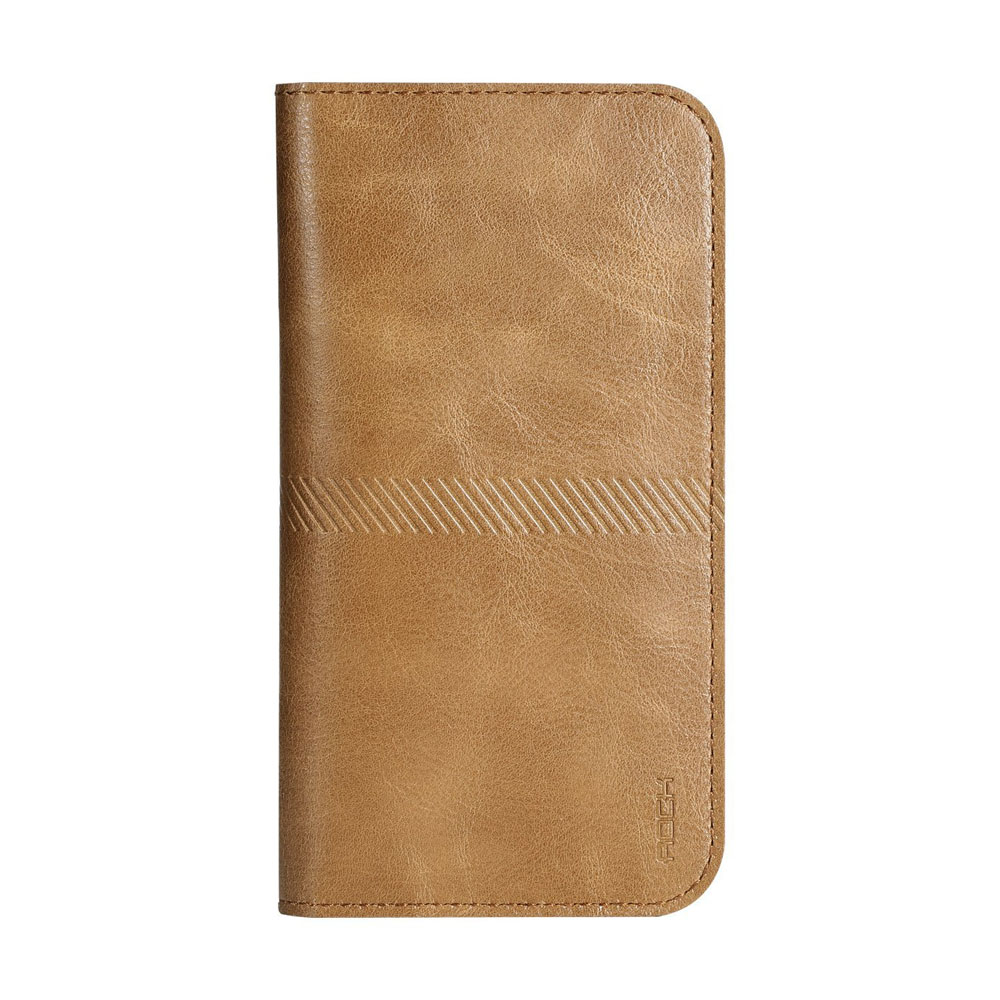 Купить Чехол ROCK Universal Wallet Case Light Brown для iPhone 6 | 6s | 7 | 8