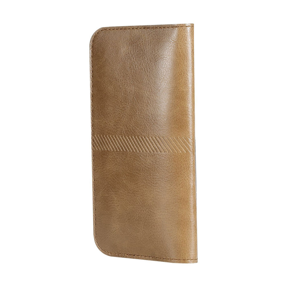 Купить Чехол ROCK Universal Wallet Case Light Brown для iPhone 6 Plus/6s Plus/7 Plus/8 Plus/X & Samsung Galaxy S7 Edge/S6 Edge/S8 Plus/S9 Plus