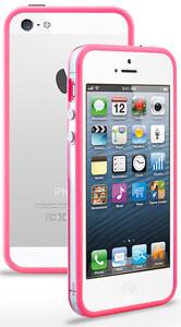 Купить Прозрачный бампер с розовым ободком для iPhone 5/5S/SE
