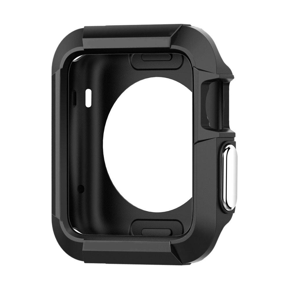 Противоударный чехол Rugged Armor Black для Apple Watch Series 1/2/3 42mm