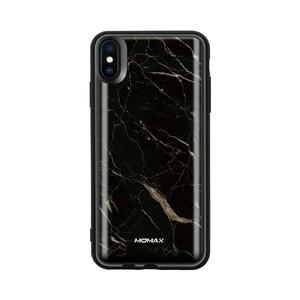 Купить Магнитный чехол с внешним аккумулятором Momax Q.Power Pack 6000 mAh Marble Black для iPhone XS Max