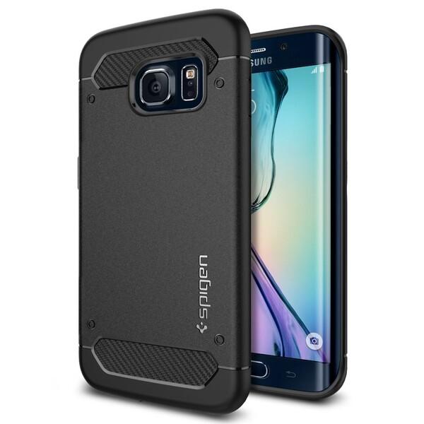 Чехол Spigen Rugged Armor Black для Samsung Galaxy S6 Edge
