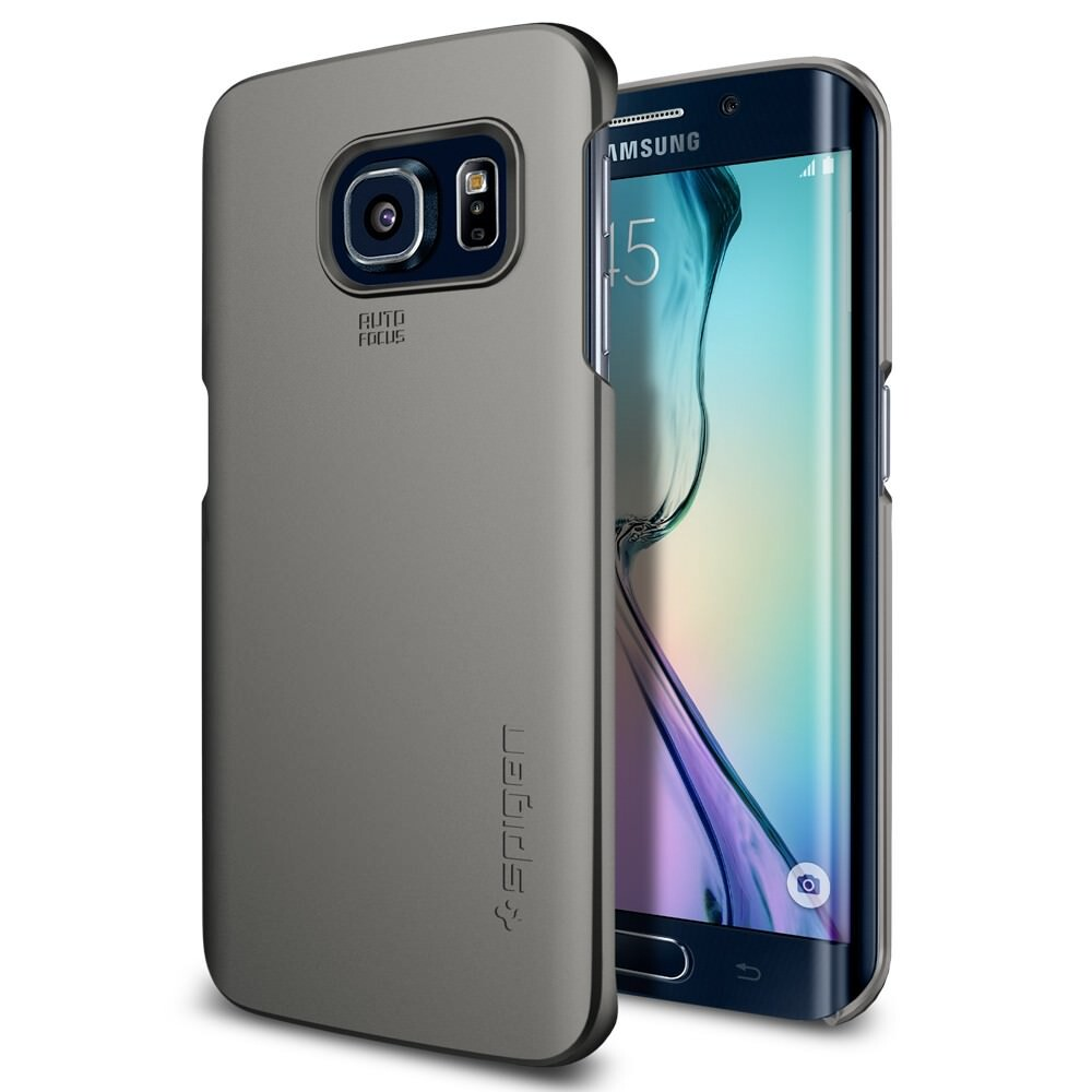 Чехол Spigen Thin Fit Gunmetal для Samsung Galaxy S6 Edge