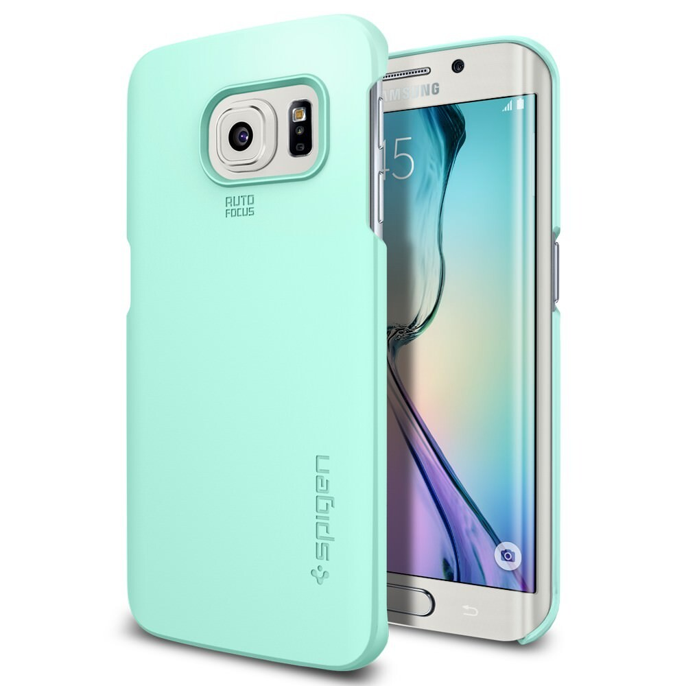 Чехол Spigen Thin Fit Mint для Samsung Galaxy S6 Edge