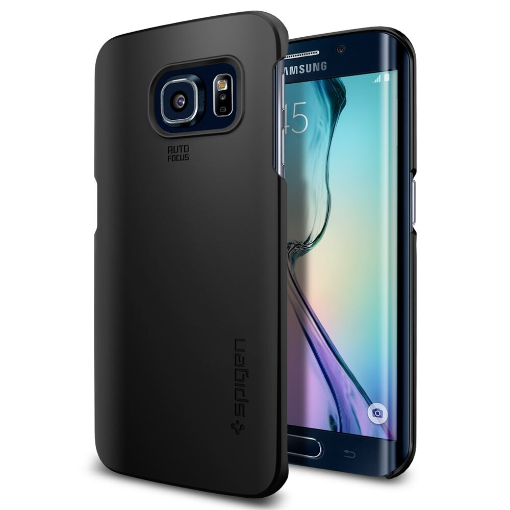 Чехол Spigen Thin Fit Smooth Black для Samsung Galaxy S6 Edge