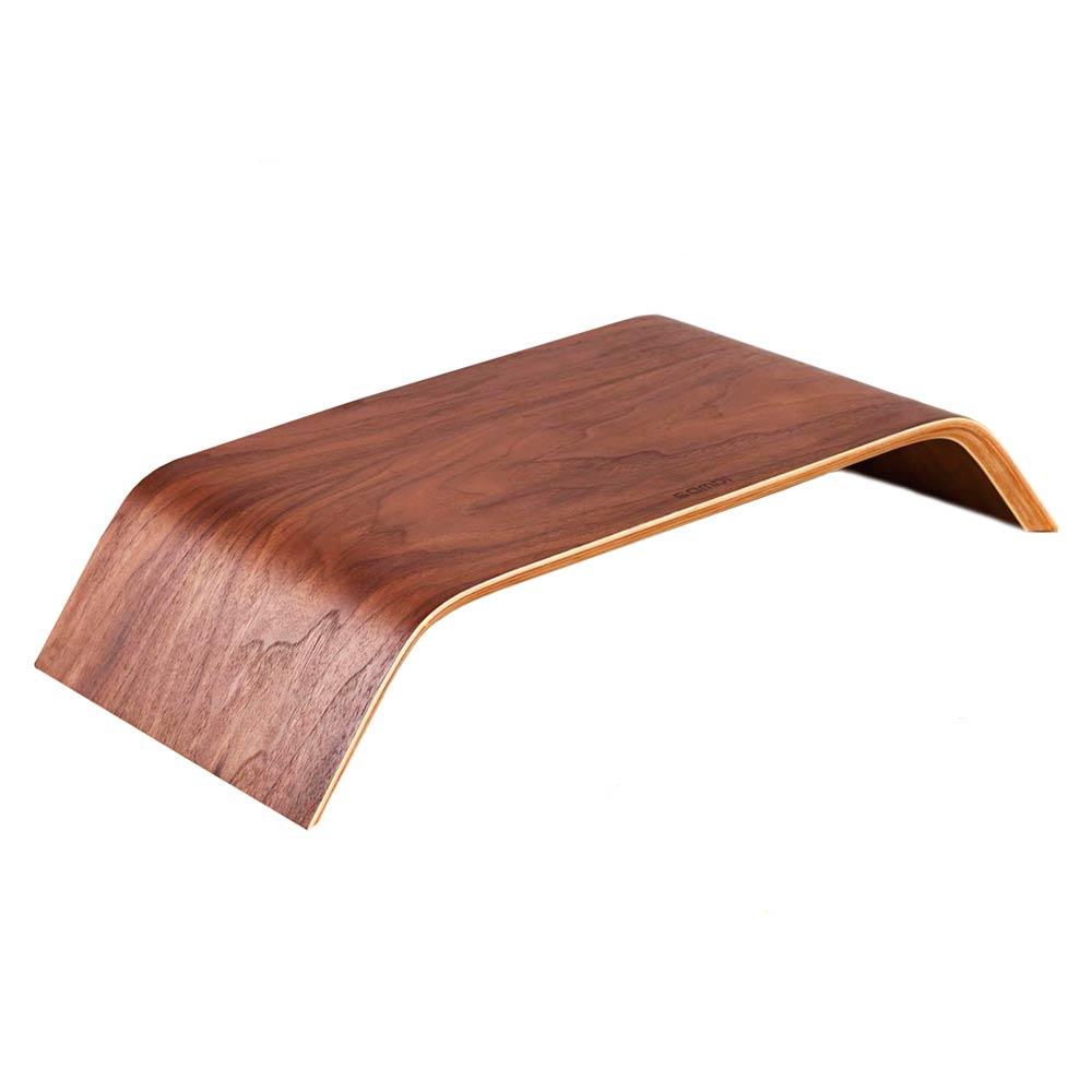 Купить Универсальная деревянная подставка SAMDI Monitor Stand Black Walnut для MacBook   монитора