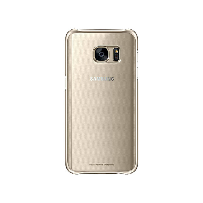 Чехол Samsung Protective Clear Cover Gold для Samsung Galaxy S7