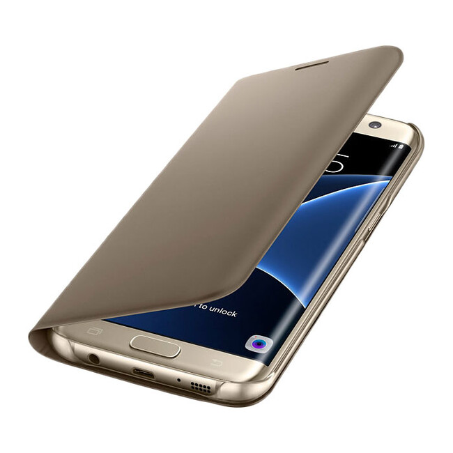 Чехол Samsung Flip Wallet Gold для Samsung Galaxy S7 edge
