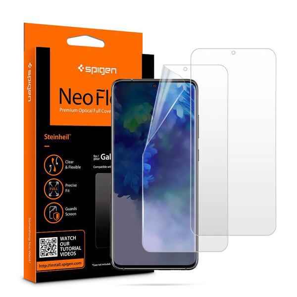 Защитная пленка для Samsung Galaxy S20+ Spigen Screen Protector Neo Flex HD (2 Pack)
