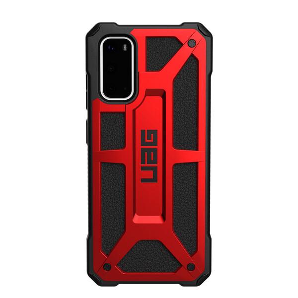 Противоударный чехол для Samsung Galaxy S20 UAG Monarch Series Crimson