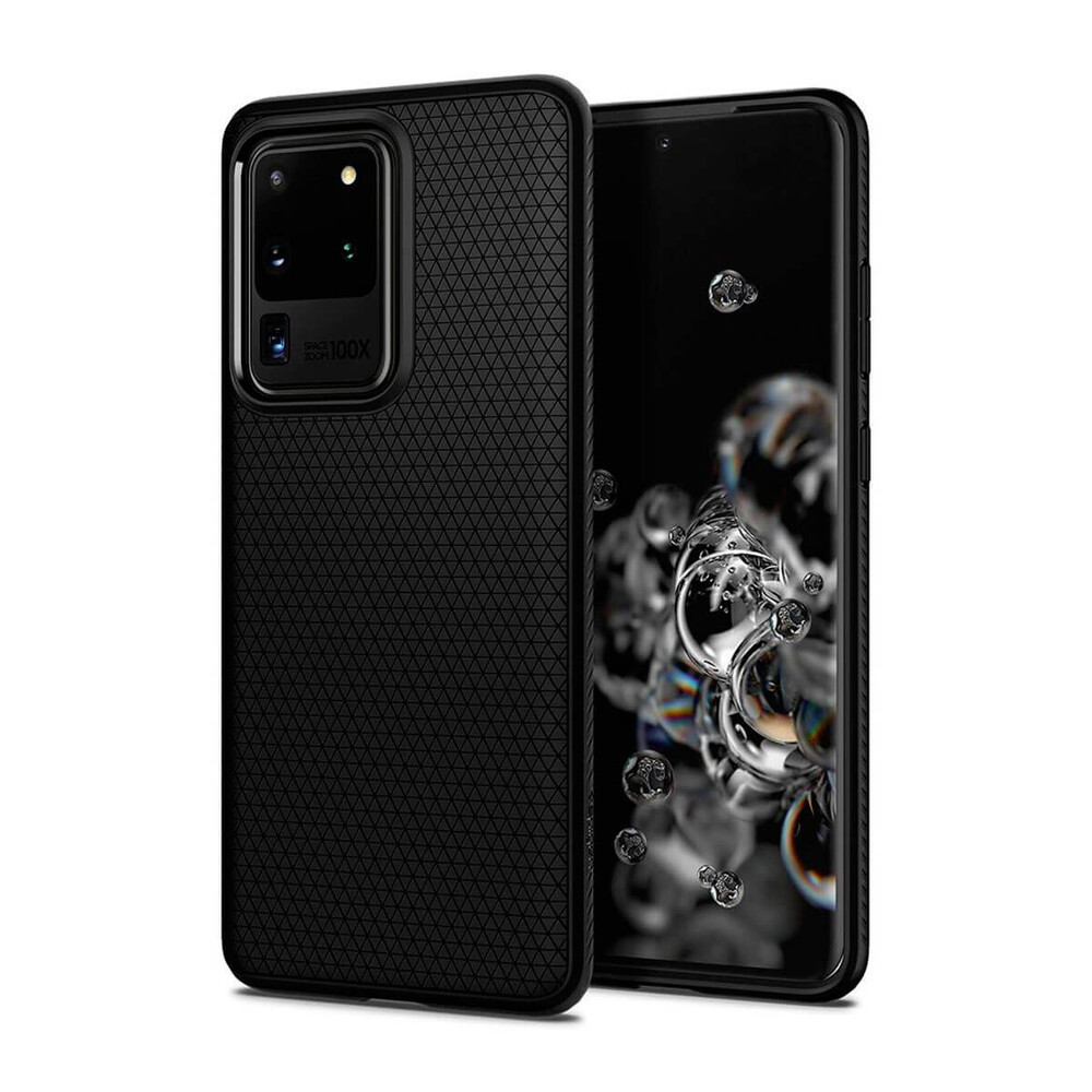 Купить Чехол для Samsung Galaxy S20 Ultra Spigen Liquid Air Matte Black