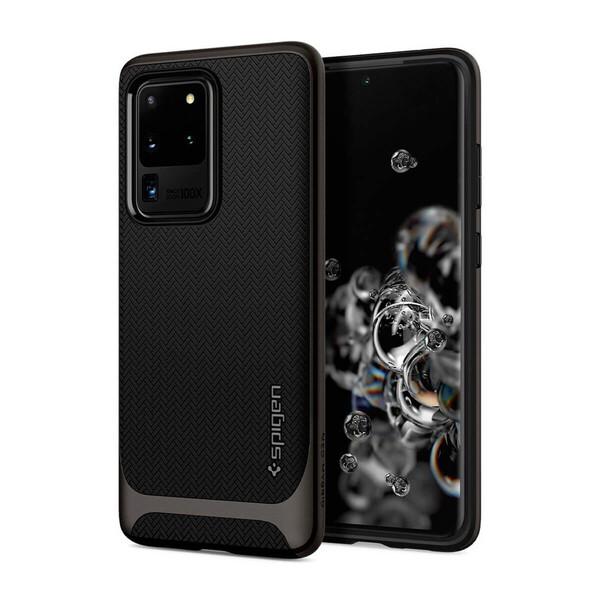 Противоударный чехол для Samsung Galaxy S20 Ultra Spigen Neo Hybrid Gunmetal