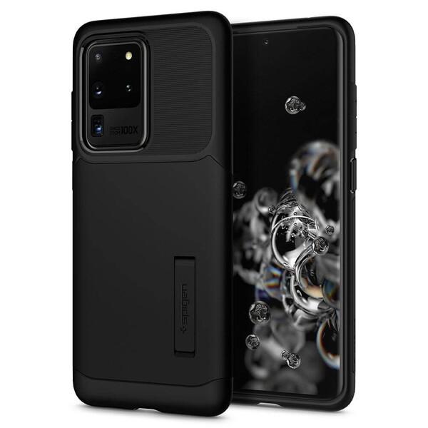 Черный защитный чехол для Samsung Galaxy S20 Ultra Spigen Slim Armor Black