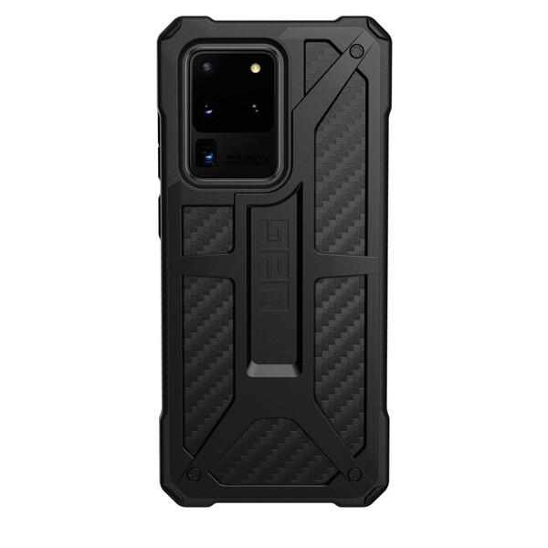 Противоударный чехол для Samsung Galaxy S20 Ultra UAG Monarch Series Carbon Fiber