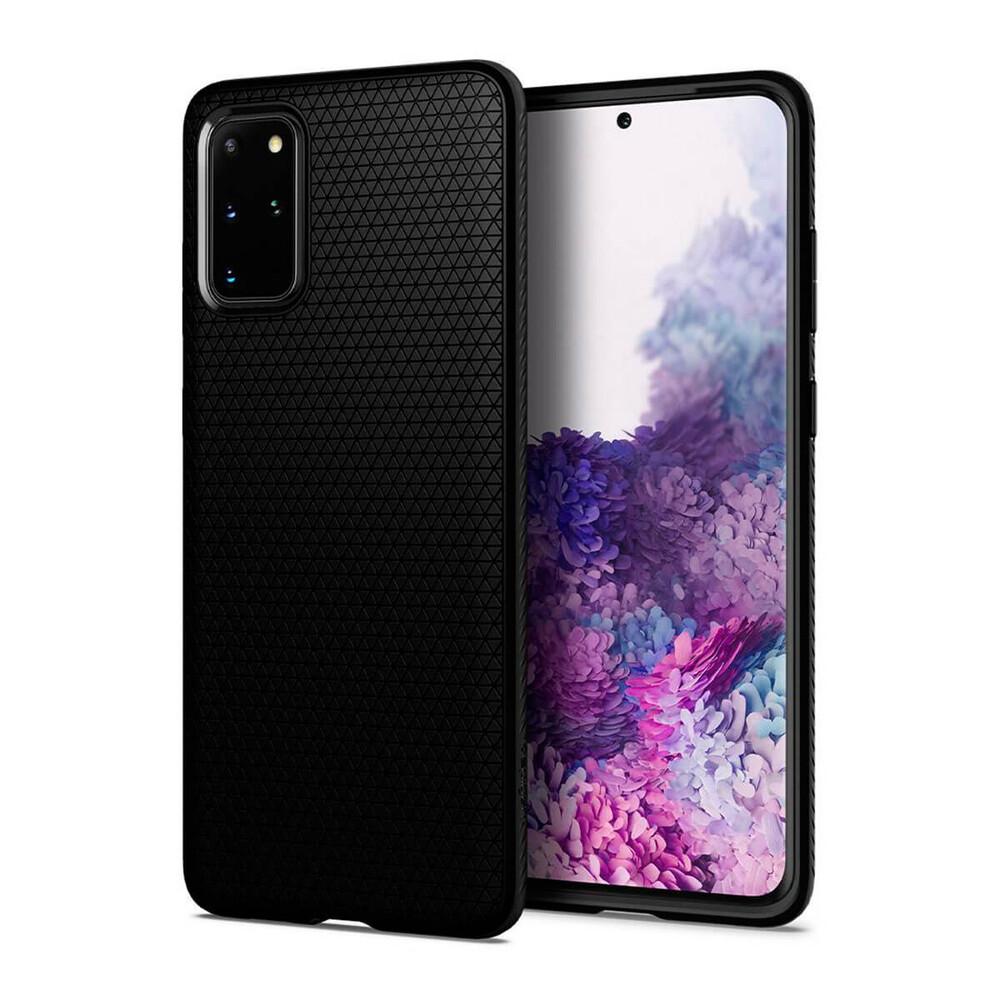 Купить Чехол для Samsung Galaxy S20+ Spigen Liquid Air Matte Black