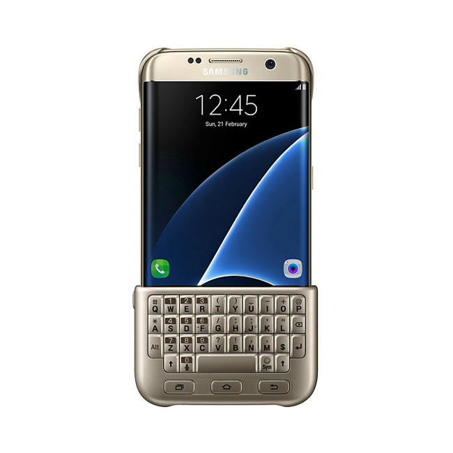 Чехол Samsung Keyboard Cover Gold для Samsung Galaxy S7